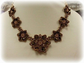 Pretty Petals Beadwork Necklace Jewellery Making Kit with SWAROVSKI® ELEMENTS Bronze Tones
